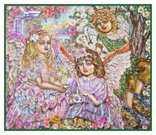 Tea Party of Angels Contemporary Artist Yumi Sugai Counted Cross Stitch Pattern