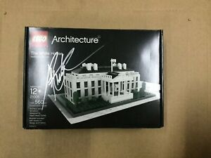 LEGO ARCHITECTURE 21006 THE WHITE HOUSE NEW Autograph Sign By Adam Reed Tucker