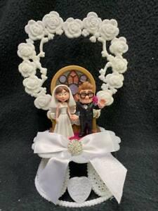 Funny Disney Carl and Ellie Pixar UP Wedding Cake Topper Sketchbook Groom top