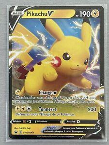 Carte Pokemon Pikachu V Promotionnelle Epée et Bouclier SWSH061 Neuve, Française