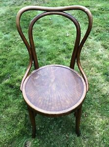 J and J Kohn Bentwood Chair with labels made in Austria Bistro Cafe Dining