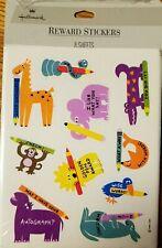 VTG Hallmark Reward Stickers School Teacher Club NOS Zoo Aniamals