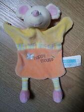 Doudou PETIT KIMBALOO la halle aux vêtements souris happy mouse jaune orange