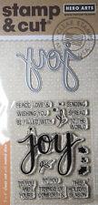 HERO ARTS STAMP & CUT Die Set JOY Cardmaking Craft Scrapbooking Mixed Media