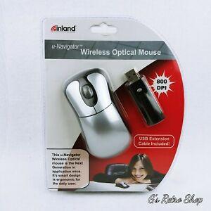 Inland U-Navigator Wireless Optical Mouse # 07340 Ergonomic800 DPI Computing