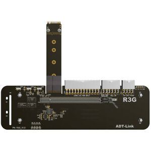 M.2 key M NVMe External Card with PCIe3.0 x4 Riser Cable 25cm 50cm 32Gbs