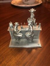 The Soda Fountain Franklin Mint Albert Ciriaco fine pewter Figurine Statue