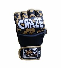 CRAZE MMA Rex Leather UFC Grappling Gloves Fight Boxing Punch Bag Training