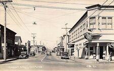 Crescent City CA Store Fronts Movie Theatre Pontiac Dealership Cars RP Postcard