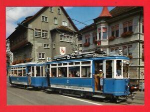Tram Postcard ~ Städtische Strassenbahn Zürich - Car 2 & Trailer 626 - Rud Suter