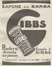 W1130 Sapone da barba GIBBS - Pubblicità 1926 - Vintage Advert