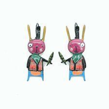Boucles d'oreilles LOL Bijoux LOLILOTA Lapin crétin BFLOL079-rose