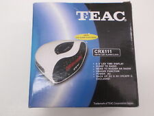 TEAC CRX111 AM/FM CLOCK RADIO