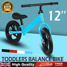 UK 12'' Kids Balance Bike for 2 3 4 5 6 Years Riding Walking Adjustable Boy&Girl