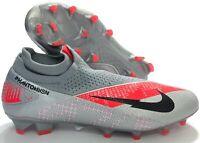Nike Phantom Vision VSN 2 Elite DF FG Grey Soccer Cleats CD4161-906 Men 9