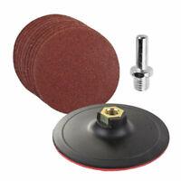 10pcs Sanding Disc Sandpaper 60-240 Grit Backer Pad Drill Adapter Set