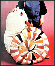 """GIANT SNAIL • CUDDLY SOFT TOY • SIT & RIDE • VINTAGE SEWING PATTERN • 25"""" Tall"""