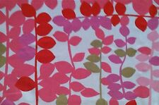 DESIGNERS GUILD Greenwich Village Pink Red Gold Cotton Remnant New