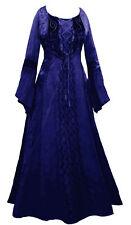LONG blue MEDIEVAL PRINCESS DRESS 10 12 14 16 18 20 22 24 26 28 30 32 plus size!