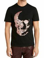 INC Mens T-Shirt Black Size XL Skull Sequin Crewneck Embellished Tee $39 081
