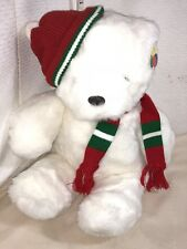 NEW COLORS WHITE STUFFED ANIMAL KNIT HAT SCARF CHRISTMAS FRIEND VINTAGE NEW TAGS