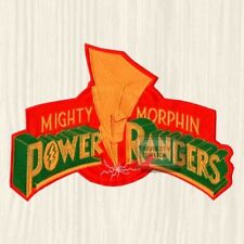 Power Rangers Mighty Morphin Logo TV Series Embroidered Big Patch Red Blue Black