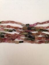 "14"" 4-6mm Long Natural Tourmaline Rectangle Beads SALE"
