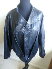 Black Ladies Leather Jacket Size Medium by Rogues