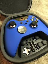 Elite Xbox One 1 Controller - Custom Blue SHELL, GOLD Led,Buttons,ABXY