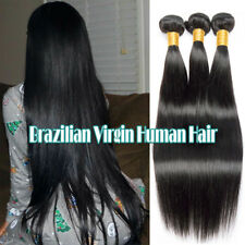 Brazilian 9A 100% Virgin Human Hair Extensions Weave 3Bundles 300G #1B Straight