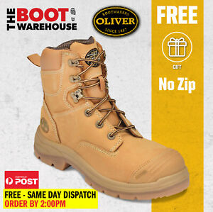 """Oliver Work Boots 55332, 150mm (6""""), Steel Cap Safety. Lace-Up (No Zip). NEW!"""