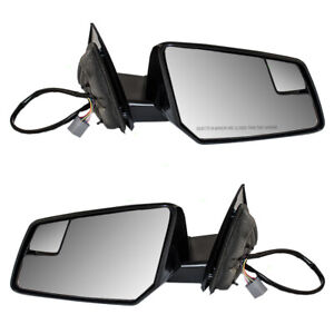 Pair Power Side Mirrors Heated Signal Spotter Glass for Outlook Acadia Traverse