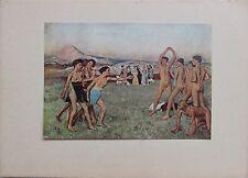 Edgar Degas Photo Illustration Jeunes Spartiates s' exercants First Edition 1925