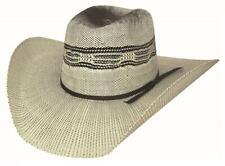 New HEAD HUNTER 20X Bangora Straw Western Rodeo Cowboy Hat Bullhide Montecarlo