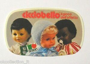 VECCHIO ADESIVO anni '80 /Old Sticker BAMBOLA CICCIOBELLO SEBINO DOLLS (cm 9x5)
