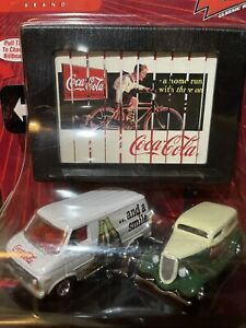 Johnny Lightning Coca Cola Billboards 1976 Chevy Van & 1933 Ford Panel Delivery