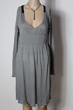 GAS Kleid Gr. S/M grau knielang Empire Shirt Kleid