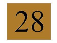 plaque ou etiquette numero boite aux lettres - Bronze 60x50mm