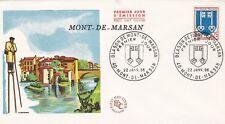 FRANCE 1966 FDC  BLASON DE MONT DE MARSAN  YT 1469