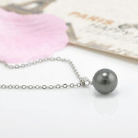 Fashion white/Black Pearl Pendant Necklace Elegant Chain Women Jewelry Beauty