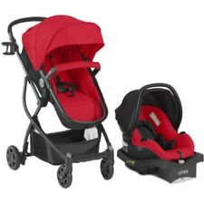 Baby Stroller Car Seat 3 in 1 Travel System Infant Carriage Buggy Red Bassinet