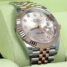 Rolex Datejust 41mm 126331 Jubilee 18K Rose Gold /SS Diamond Dial Watch 2017*NEW