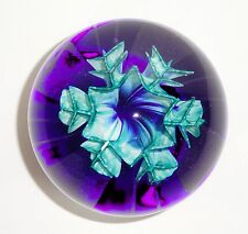 Caithness Floral Illusion Paperweight Ltd Ed 1991 Colin Terris