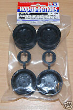 Tamiya 54741 On Road Racing Truck Wheels (F&R/2 Pcs. Each) Black (MAN Hahn/TT01)
