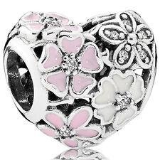 PANDORA Herz Charm mit Blumen 925er Silber 791825ENMX