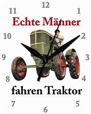Wanduhr Echte Männer fahren Traktor Uhr Clock WC 94