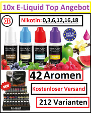 10x Silver Cig Premium E-Liquid Zigarette 0 3 6 12 16 18 mg Nikotin 42 Aromen