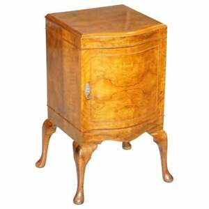 VERY RARE MAURICE ADAMS ART DECO BURR WALNUT BEDSIDE OR SIDE END LAMP WINE TABLE