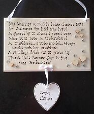 Personalised Thank You God Mother Father Christening Baptism Poem Gift Plaque