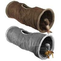 Cat Tunnel Toy Suede Fabric Pop Up Collapsible Cat Kitten Pet Trainer Play
